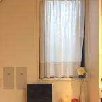 裾ボーダースタイルのオリジナルカフェカーテン