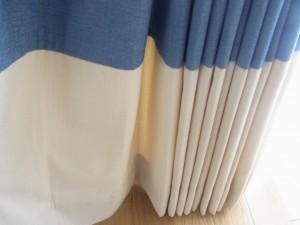 裾ボーダースタイルのカーテン2