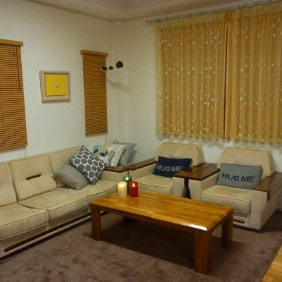 私の家のリビングルームです。|江崎